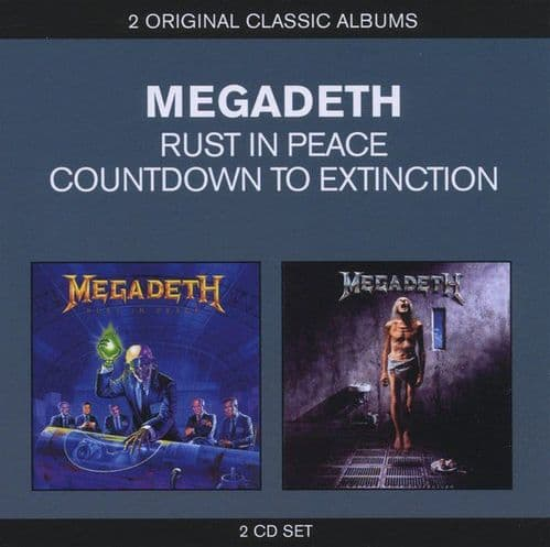 Megadeth<br>Rust In Peace / Countdown To Extinction<br>CD, RE + CD, RE + Comp